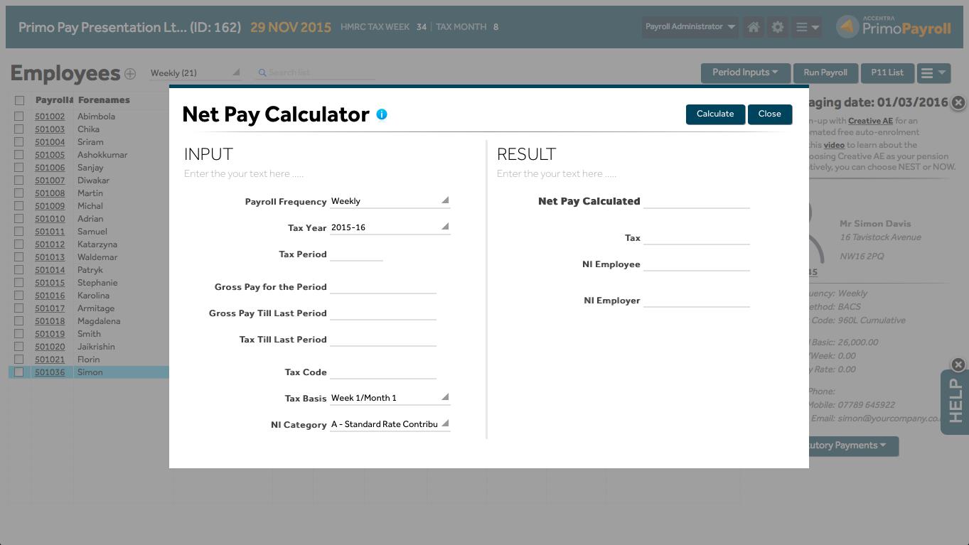 paycheck calculator 2015